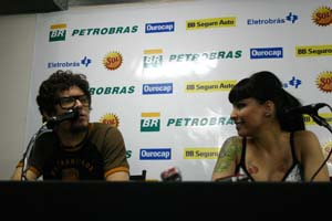 Coletiva com Fred Zero4 e Pitty